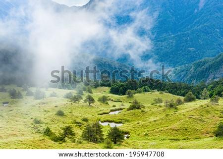 Wuling mountain at Taiwan - stock photo