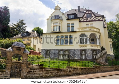 Wuppertal City Mansion - stock photo
