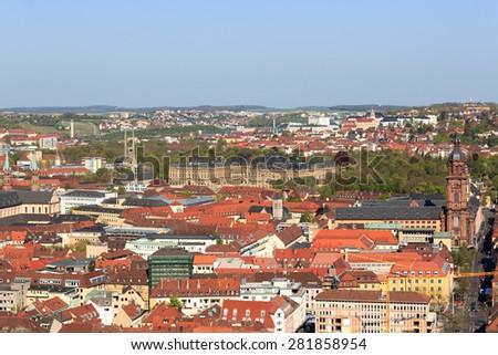 Wurzburg residence and historic city, Bavaria, Germany - stock photo
