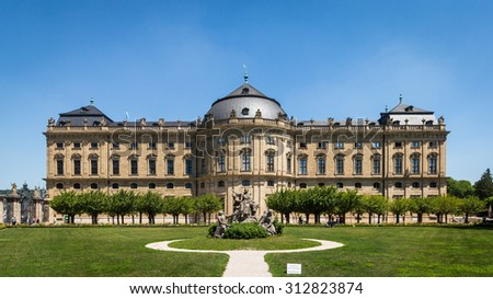 Wurzburg residence the Versailles of germany - stock photo