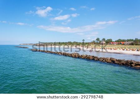 Wustrow beach - stock photo