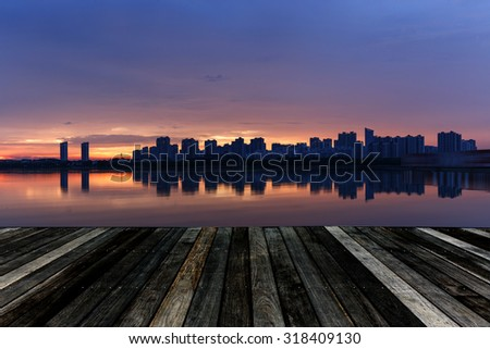 Wuxi, China, Waterfront buildings - stock photo