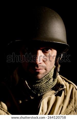 WW2 US Paratrooper - stock photo