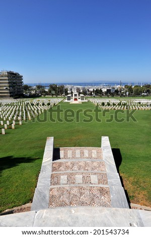 WWI & WWII Commonwealth Military Cemetery Athens, Greece  - stock photo