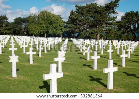 WWII cemetery  france