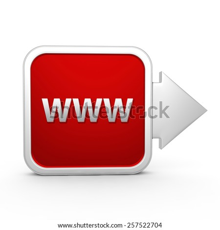 www square icon on white background - stock photo