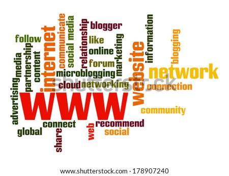 WWW word cloud - stock photo