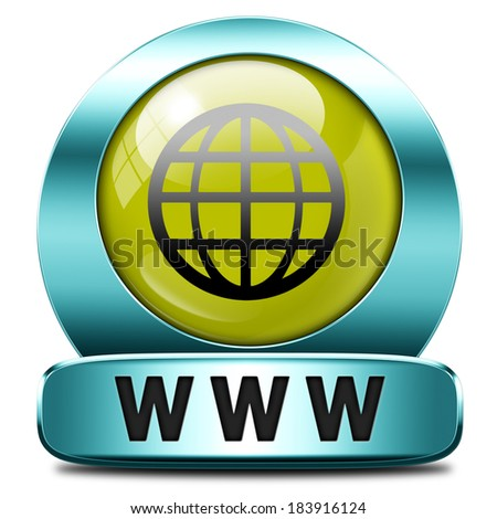 www world wide internet icon - stock photo