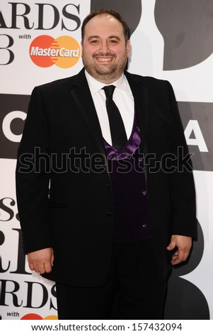 Wynne Evans arrives for the Classic Brit Awards 2013 at the Royal Albert Hall, London. 02/10/2013 - stock photo