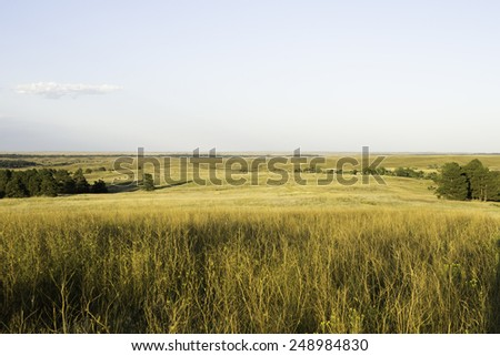 Wyoming Landscape in the Summer - stock photo