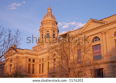 Wyoming State Capitol Building at Sunset, Cheyenne