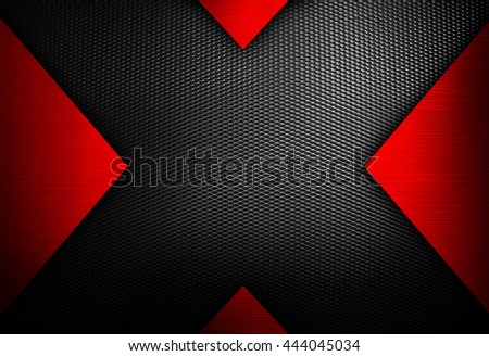 X design metal plate background - stock photo