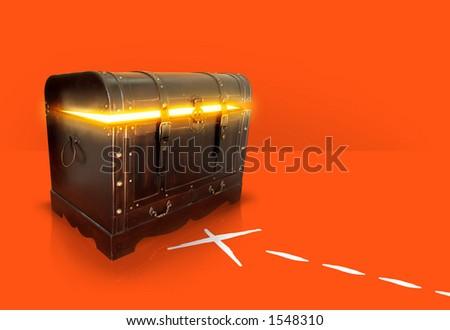 X for the treasure - stock photo