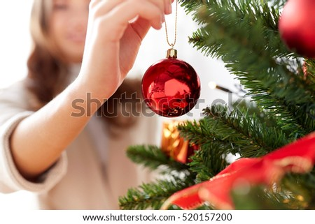 "People Decorating For Christmas ""christmas decorating"" stock images, royalty-free images"