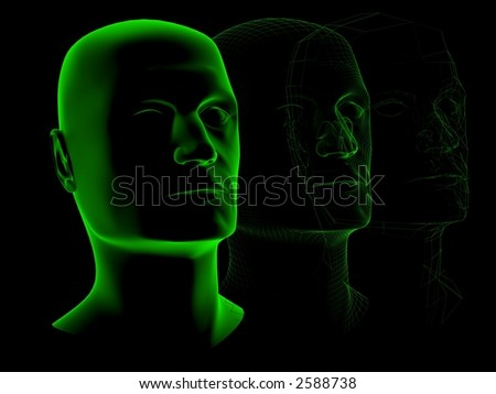X-ray head isolated on black
