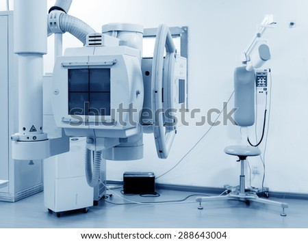 x-ray machine in hospital - stock photo