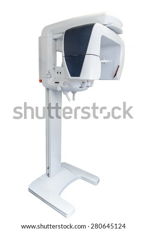 X-ray machine isolated on white background