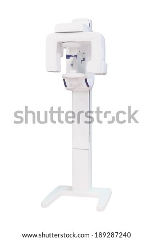 x-ray unit for dentistry under the white background