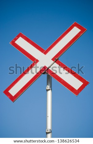X-shaped sign  - stock photo
