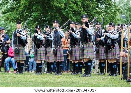XANTEN, GERMANY - JUNE 20, 2015: Scotfest, Highland Games