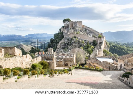 Xativa Castle from the inside. Valencia, Spain
