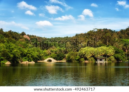 Xiamen botanical garden and Wanshi lake