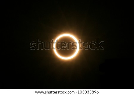 XIAMEN, CHINA - MAY 20:  The moon passes in front of the sun on May 20, 2012 which creates a total solar eclipse seen from Xiamen, China.