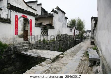 xidi village,china - stock photo