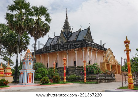 Xiem Can Khmer pagoda located in Bac Lieu, Vietnam. - stock photo