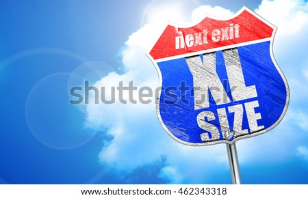 xl size, 3D rendering, blue street sign