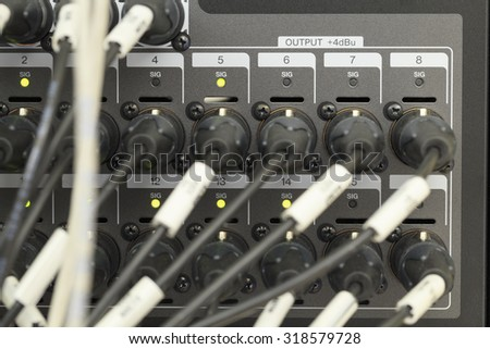 XLR connector. - stock photo