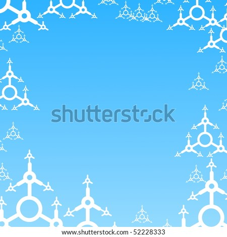 xmas christmas or winter background in blue with snow flakes