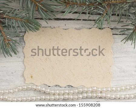xmas greeting card - stock photo