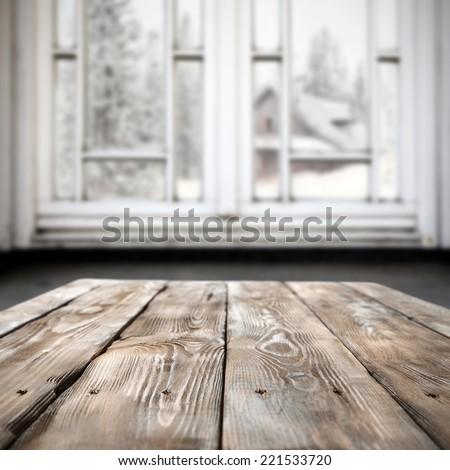 xmas table of free space  - stock photo