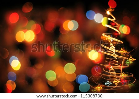 xmas texture as very nice christmas background from color lights - stock photo