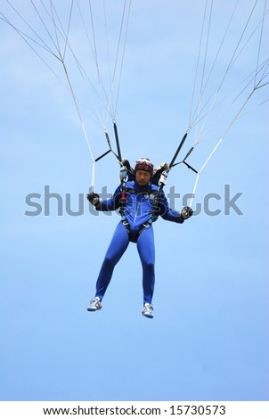 Xu Wei of Chine participates in World Parachuting Championships in Style & Accuracy -  Lucenec Bolkovce, Slovak Republic on 26 July to 02 August 2008.