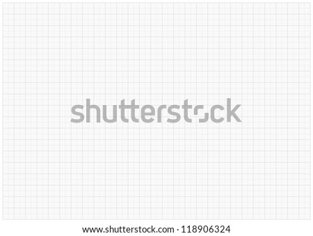 XXL millimeter paper, graph paper, plotting paper. - stock photo