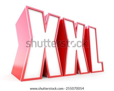 XXL size 3D concept - stock photo