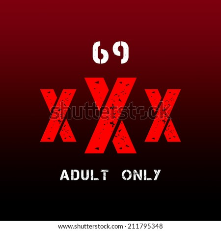 XXX ready for adult content material  - stock photo