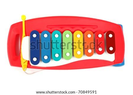 Xylophone toy isolated - stock photo