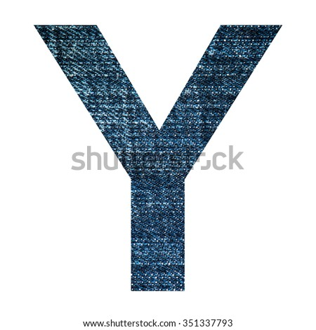 Y Jeans  english word, isolated on white