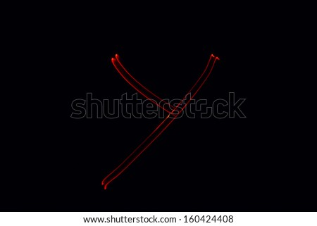 Y - torch light alphabet letters - stock photo