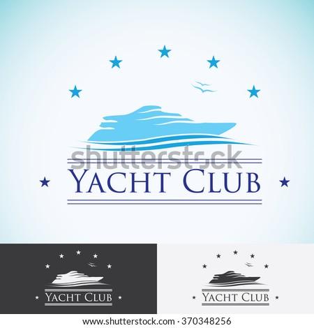 Yacht club logo design template sea stock illustration 370348256 yacht club logo design template sea cruise tropical island or vacation logotype icon toneelgroepblik Image collections