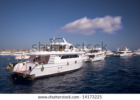 Yacht heading to the sea - stock photo