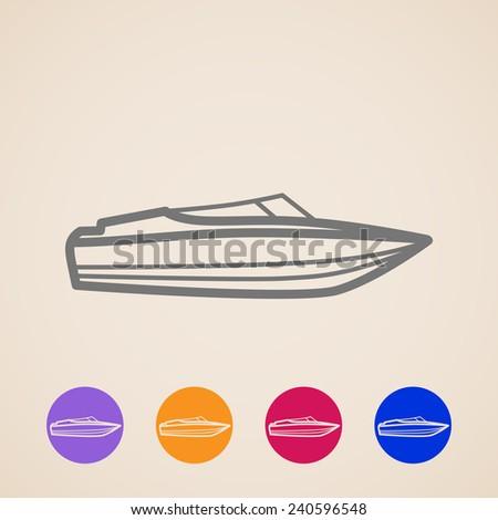 yacht icons  - stock photo