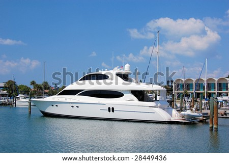 Yacht In Harbour - stock photo