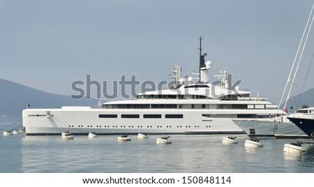 Yacht in Porto Montenegro, Tivat  - stock photo