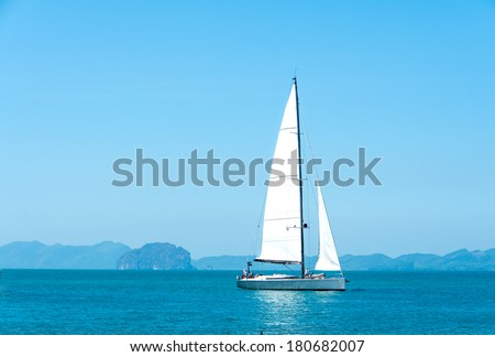 Yacht in the sea of Krabi Thailand