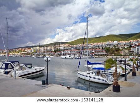 Yacht marina - stock photo