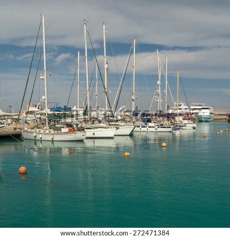 yacht marina sea - stock photo